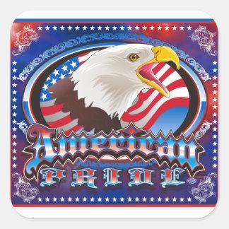 american pride eagle design richard legarreta square sticker