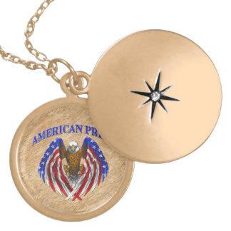 American Pride Eagle Locket Necklace