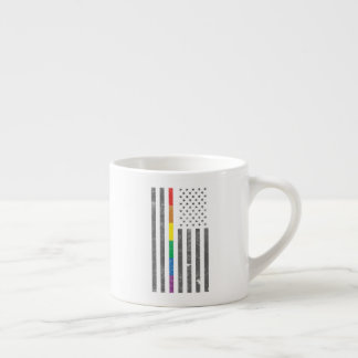 American Pride Flag Espresso Mug