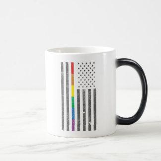 American Pride Flag Morphing Mug