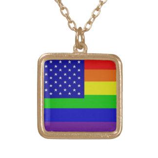 American Pride Gay Flag Necklace