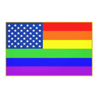 American Pride Gay Flag on Canvas - Giant Size