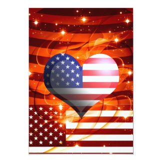 american pride heart design card