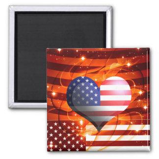 american pride heart design 2 inch square magnet