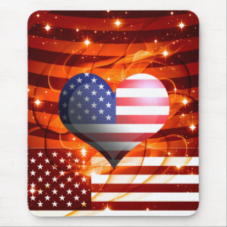 american pride heart design mouse pad