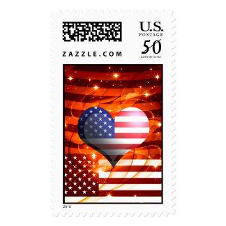 american pride heart design postage