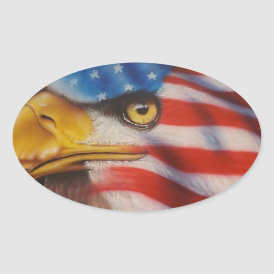 American Pride Oval Sticker