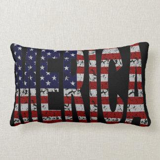 American Pride Slang MERICA  U.S.A. Flag Pillow