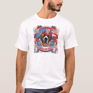 American Pride St Bernard T-Shirt