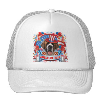 American Pride St Bernard Trucker Hat