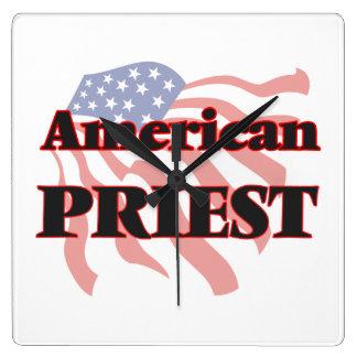 American Priest Square Wallclocks