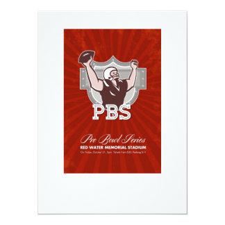 American Pro Football Bowl Retro Poster Art Personalized Invite