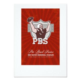 American Pro Football Bowl Retro Poster Art Announcement