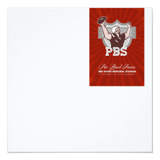 American Pro Football Bowl Retro Poster Art Personalised Announcement