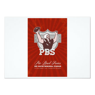 American Pro Football Bowl Retro Poster Art Personalised Announcements