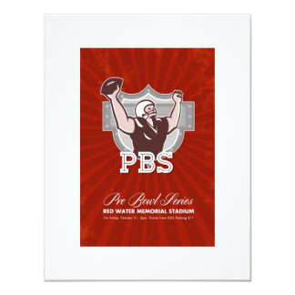 American Pro Football Bowl Retro Poster Art Custom Invite