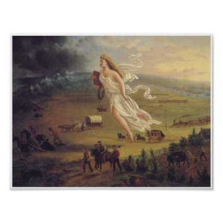 American Progress Vintage Art Poster