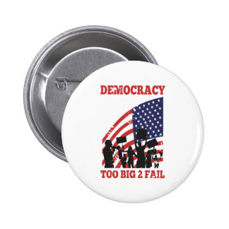 American Protesting Democracy Wall Street Pin