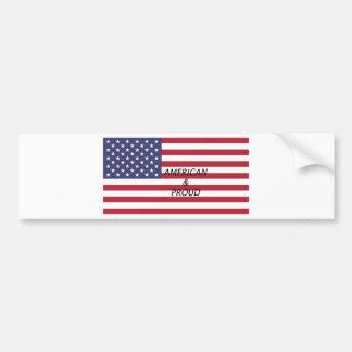 American & Proud Bumper Sticker