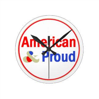 American Proud Round Clock