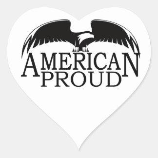 American Proud Heart Sticker