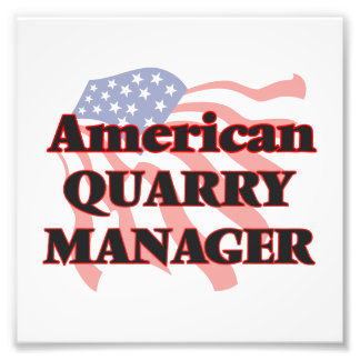 American Quarry Manager Photo Print