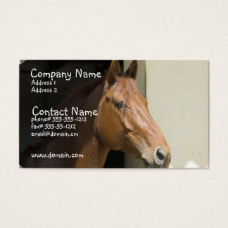 American Quarter Horse Business Card