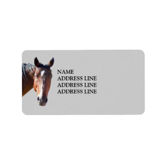 American Quarter Horse - Western Return Address Personalized Address Label