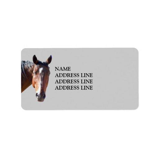 American Quarter Horse Western Return Address Label Zazzle