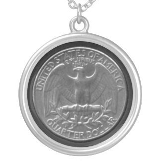 American Quarter Silver Plated Necklace