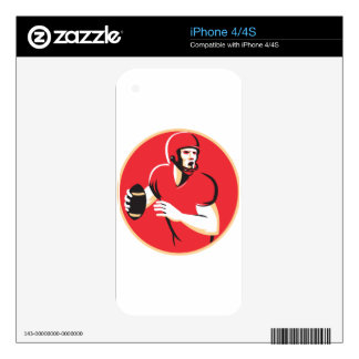 american quarterback football player passing decal for iPhone 4