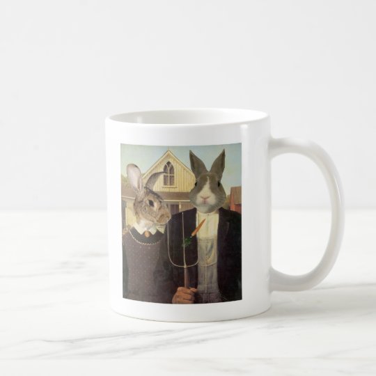 AMERICAN RABBIT COFFEE MUG