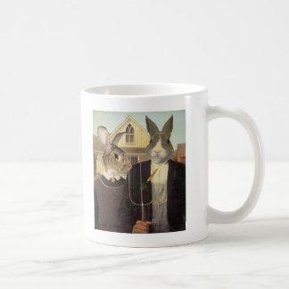 AMERICAN RABBIT CLASSIC WHITE COFFEE MUG