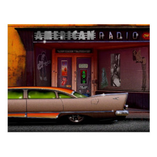 american radio postcard