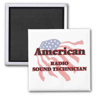 American Radio Sound Technician 2 Inch Square Magnet