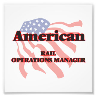 American Rail Operations Manager Photo Print