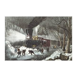 American Railroad Scene, 1871 Canvas Print