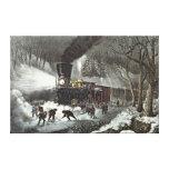 American Railroad Scene, 1871 Canvas Prints