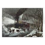 American Railroad Scene, 1871 Card