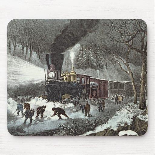 American Railroad Scene, 1871 Mousepad