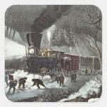 American Railroad Scene, 1871 Sticker
