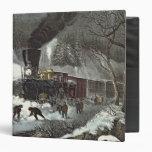 American Railroad Scene, 1871 Vinyl Binder