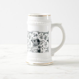 American Railroad Train Engineer Beer Stein