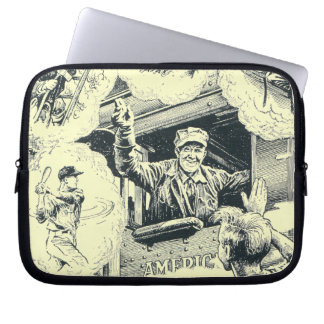 American Railroad Train Engineer Computer Sleeve