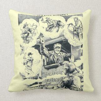 American Railroad Train Engineer Pillows