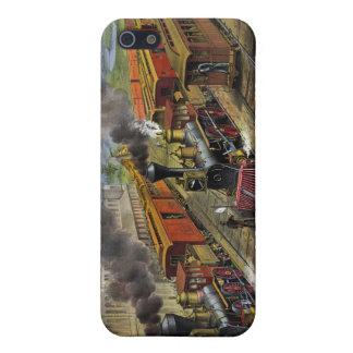 American railroad trains (1874) iPhone 4 case
