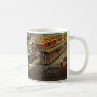 American railroad trains (1874) mug