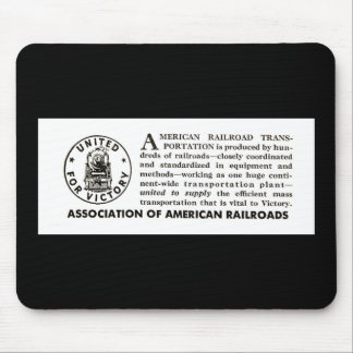American Railroads United For Victory 1940 Mouse Pad