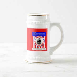 American Railroads United For Victory 1940 Stein