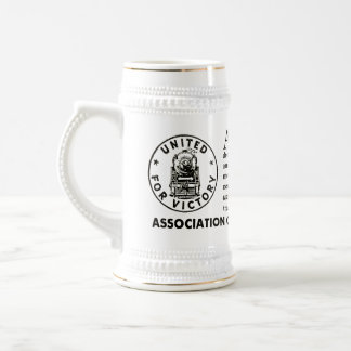 American Railroads United For Victory 18 Oz Beer Stein